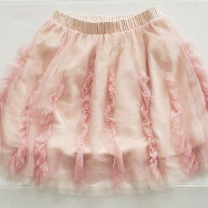 Crewcuts Girls Size 10 Skirt Pink Tulle Lined